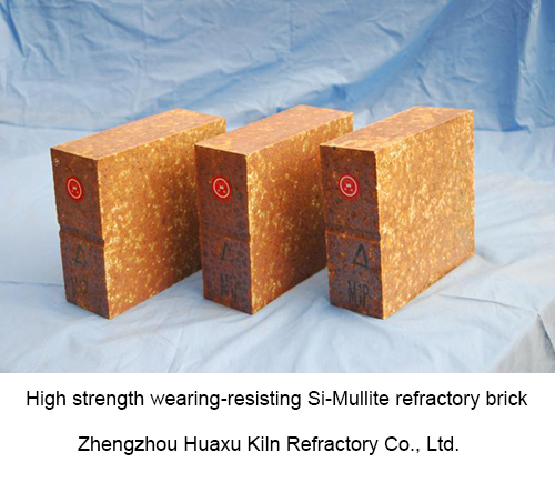 High strength wearing-resisting Si-Mullite refractory brick